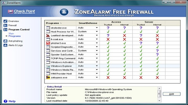 Zonealarm free network firewall download pc river