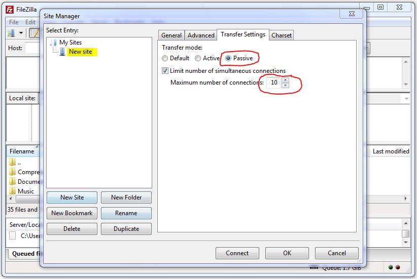 increase-speed-in-filezilla-step2