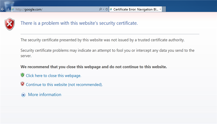 How to Fix Security Certificate Error in Internet Explorer - PCRIVER