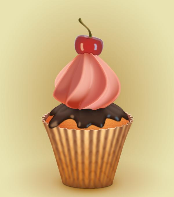 make cupcake in adobe illustrator