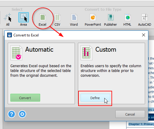 PDF-Excel-Dialog