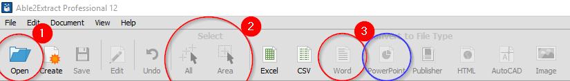 PDF-Word-Toolbar