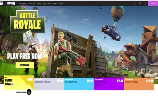 download fortnite game