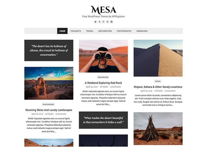 mesa-wordpress-theme