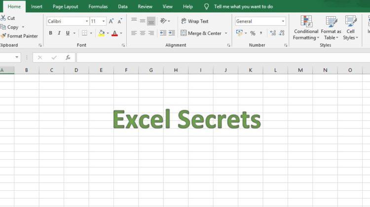 excel secrets