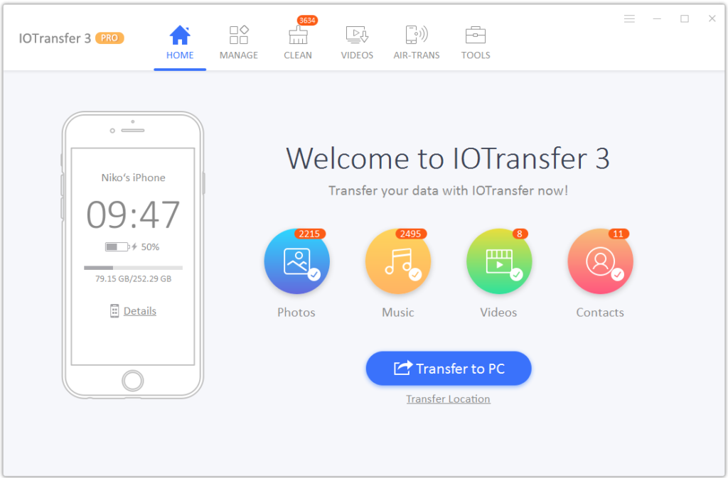 IoTransfer interface
