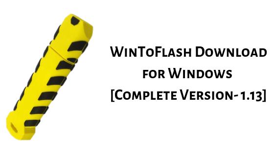 WinToFlash Download